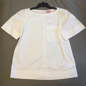 Short sleeve twill blouse kate spade